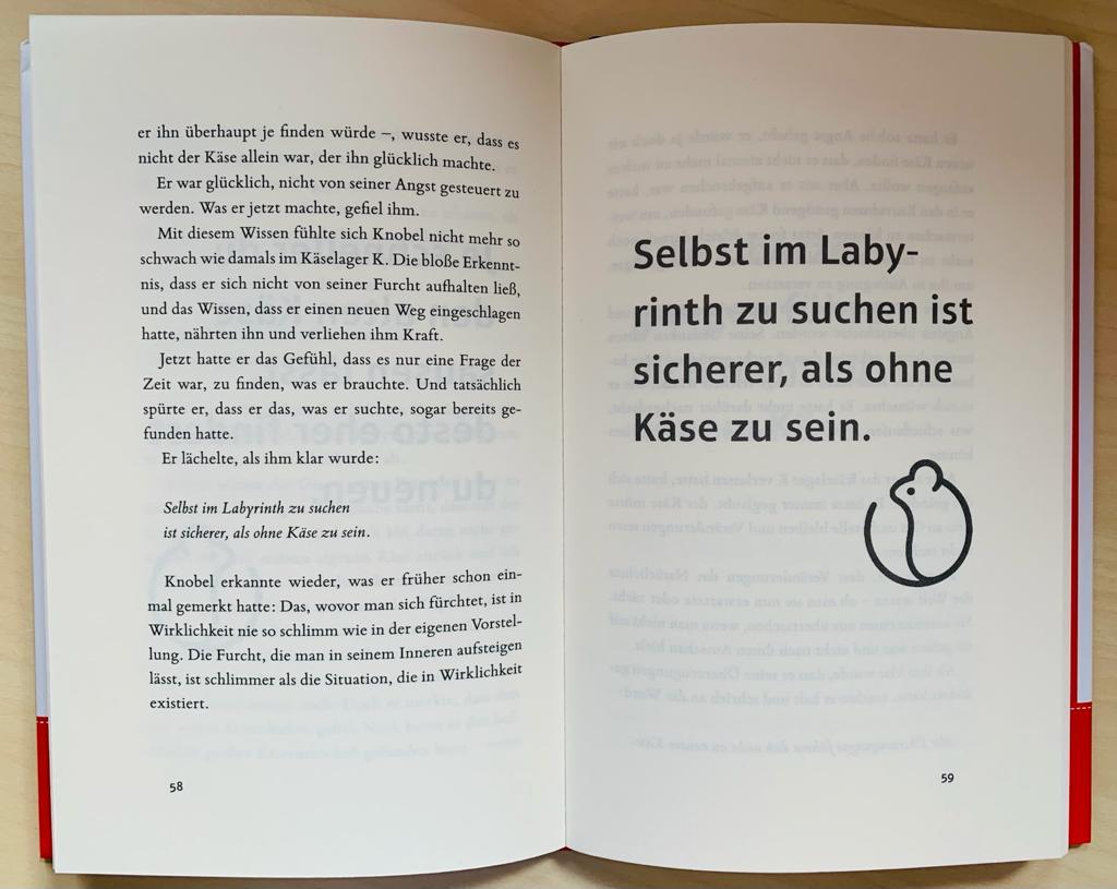 """Textpassage aus dem Buch """"Die Mäuse-Strategie für Manager"""""""